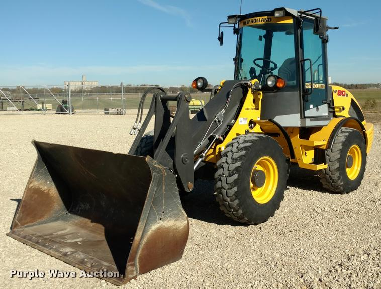 2013 New Holland W80B wheel loader