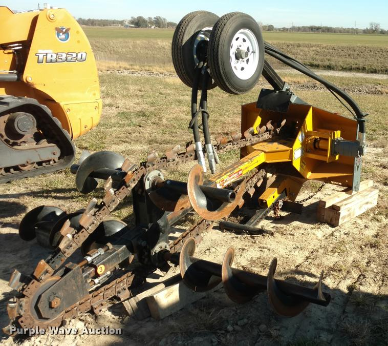 Bainter skid steer trencher