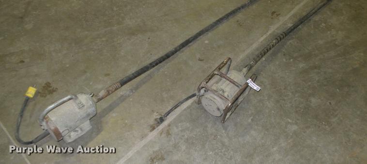 (2) concrete vibrators