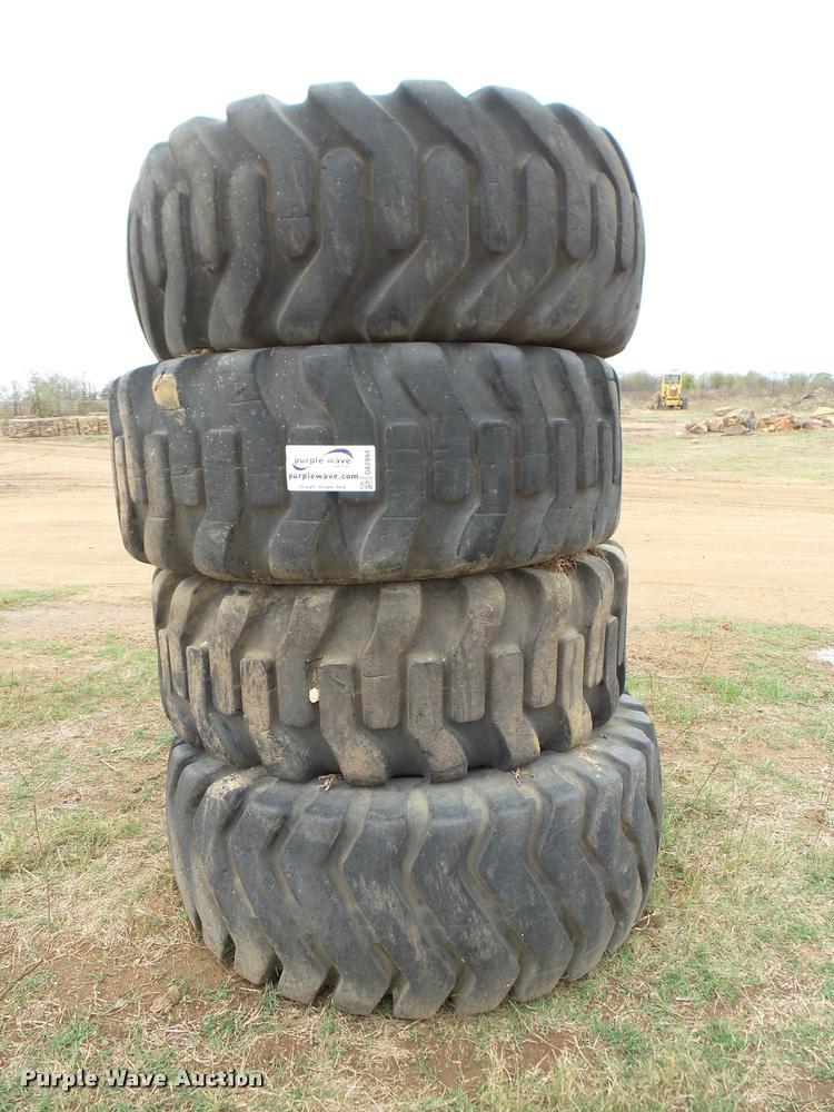 (4) 23.5-25 tires