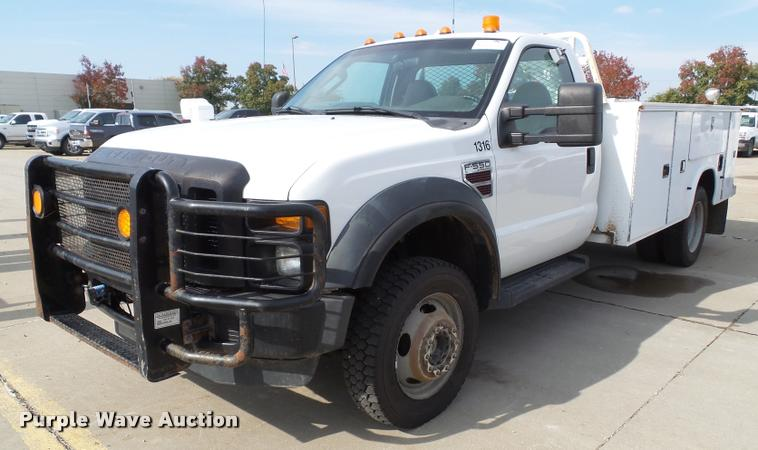 2008 Ford F550 Super Duty XL service truck with crane
