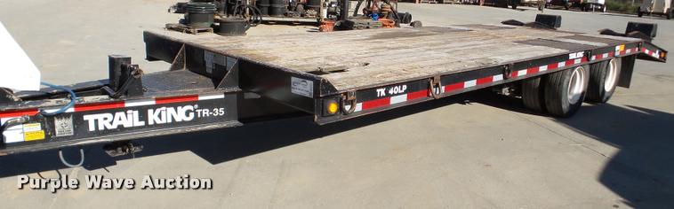 2013 Trail King TK40LP equipment trailer