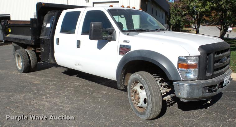 2008 Ford F550 Super Duty dump truck