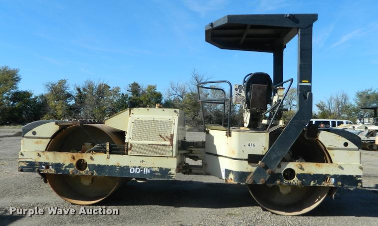 2000 Ingersoll Rand DD110 double drum vibratory roller