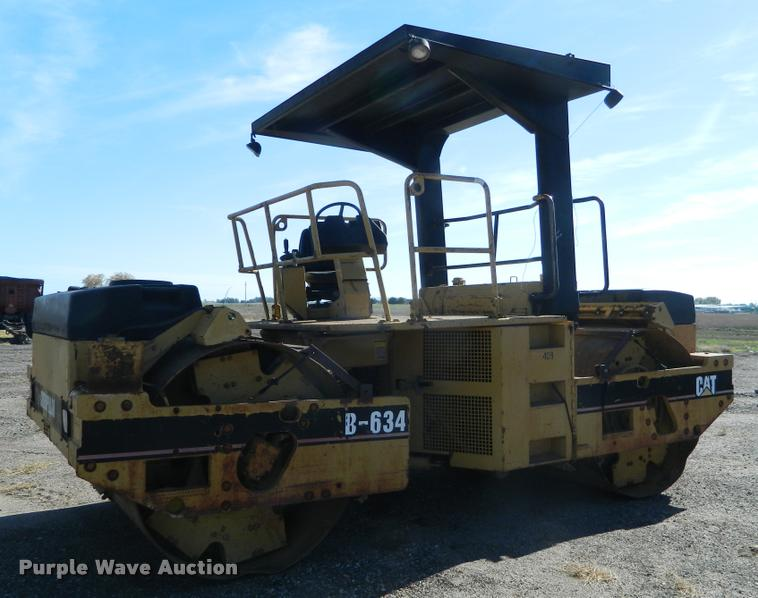 1996 Caterpillar B634 double drum vibratory roller