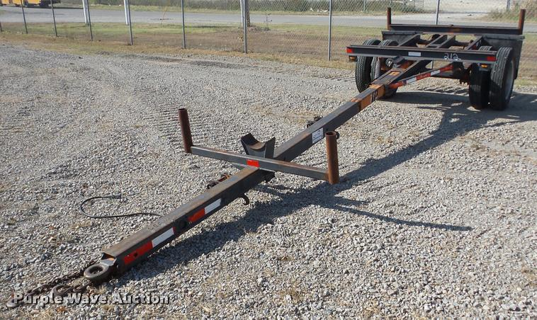 1985 Shop built telescoping pole trailer
