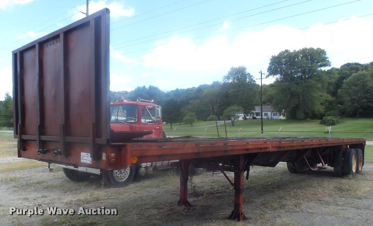1973 Fruehauf FB29-F2-40 extendable flatbed trailer
