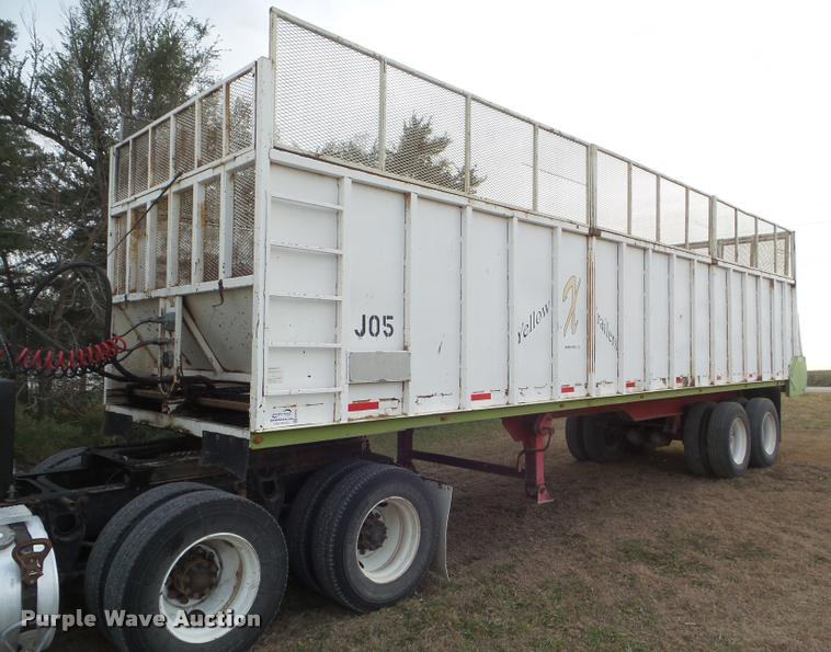 2006 Yellow X Trailers live bottom trailer