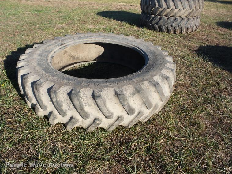 (3) Firestone Radial All Traction 18.4R46 tires