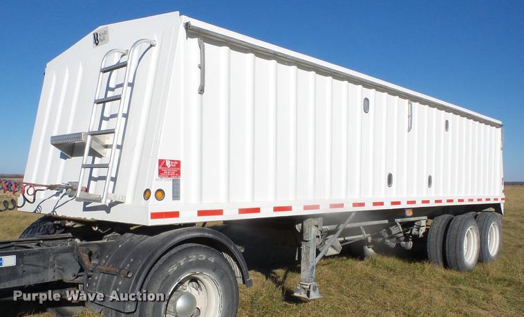 2010 Neville double hopper grain trailer