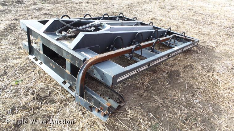 Hoelscher 100 bale grapple skid steer attachment