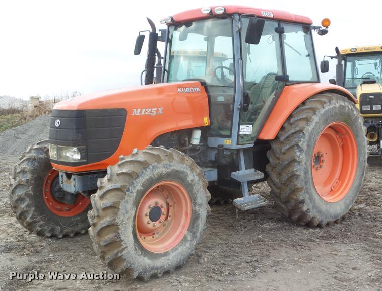 2008 Kubota M125DTC MFWD tractor