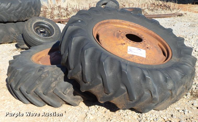 (2) 18.4-34 tires and wheels