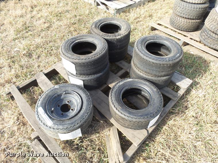 (8) Carlisle 16.5x6.5-8 tires and wheels