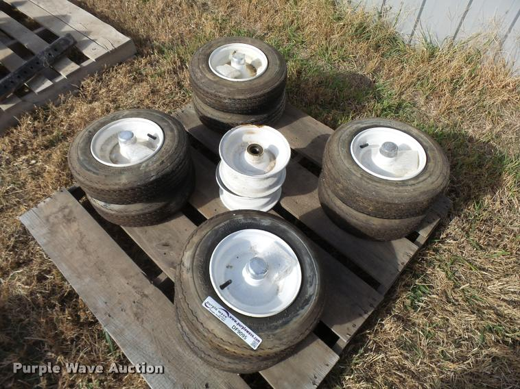 (8) 4.80-8 tires and wheels