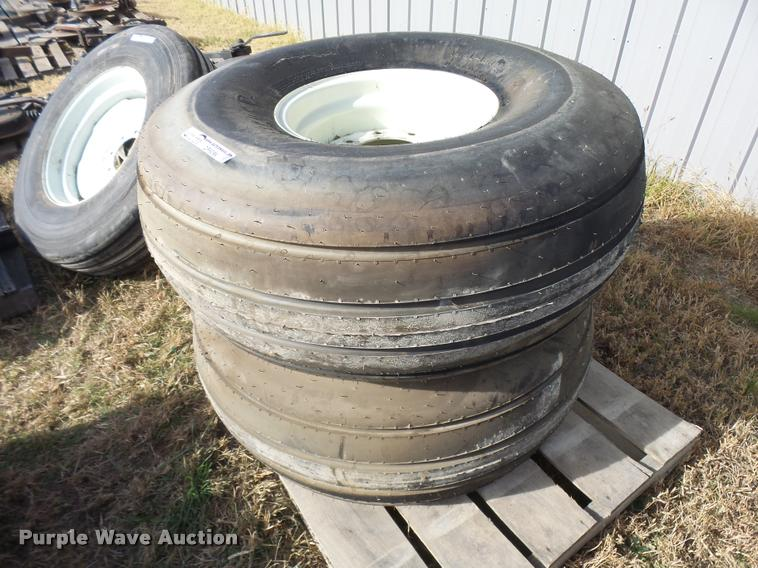 (2) 16.5x16.1 implement tires and wheels