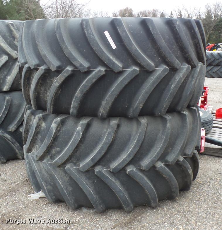 (2) Goodyear Optitrac DT830 tires and wheels