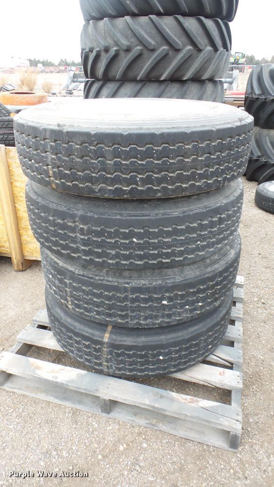 (4) B.F. Goodrich 255/70R22.5 tires and wheels