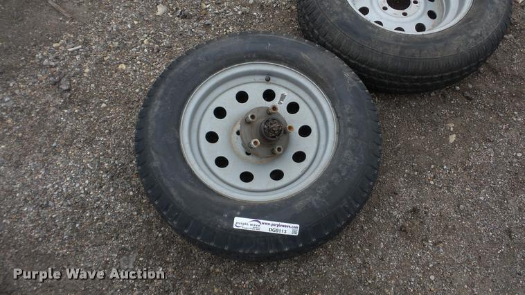 (10) 205/75-15 tires and wheels