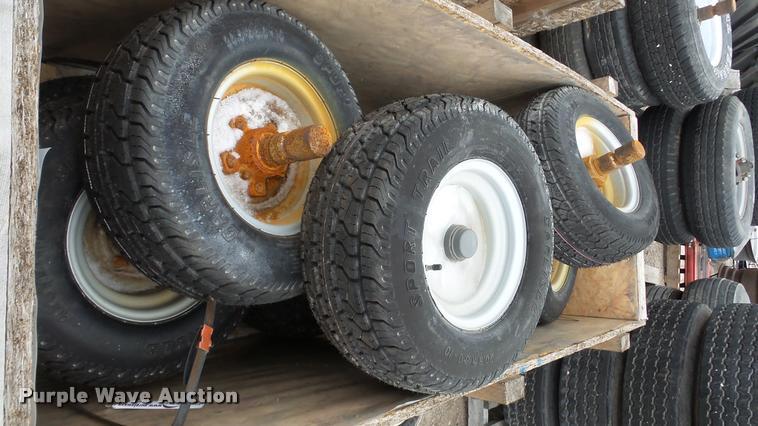 (11) Carlisle 20.5x8-10 tires and wheels