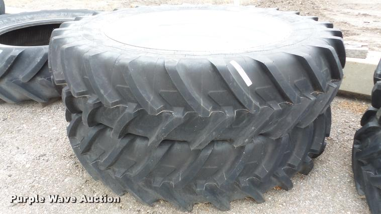 (2) Michelin Agribib tires and wheels