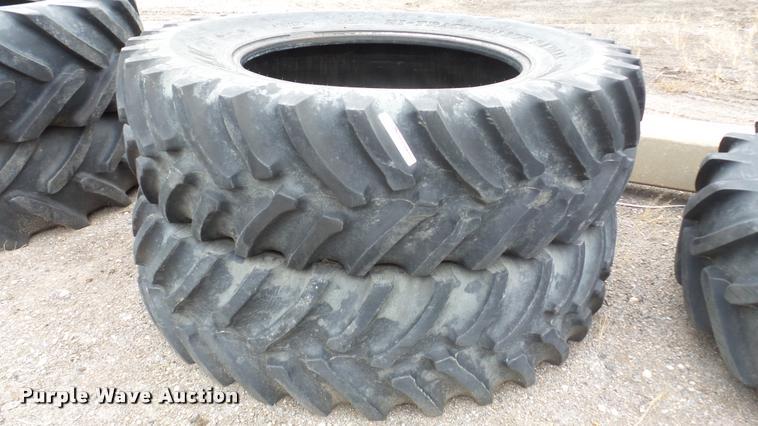 (2) Titan Hi-Traction lug radial tires