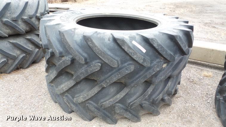 (2) Michelin Mega X Bib tires