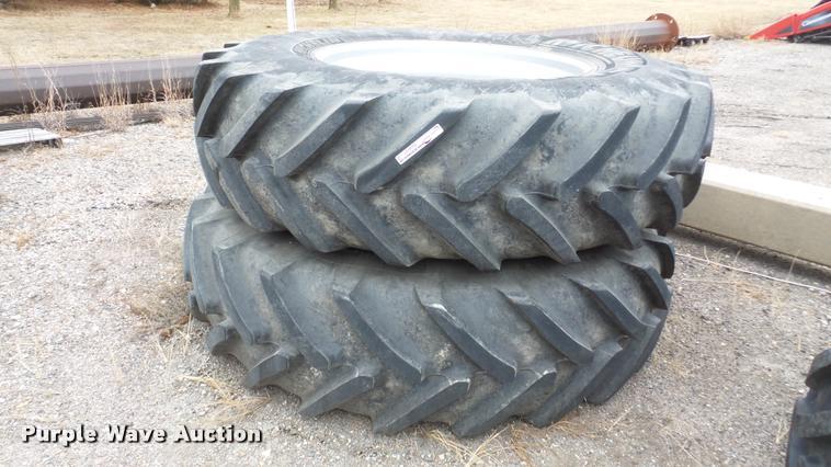 (2) Michelin Mega X Bib tires and wheels