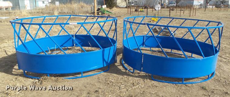 (2) round bale feeders