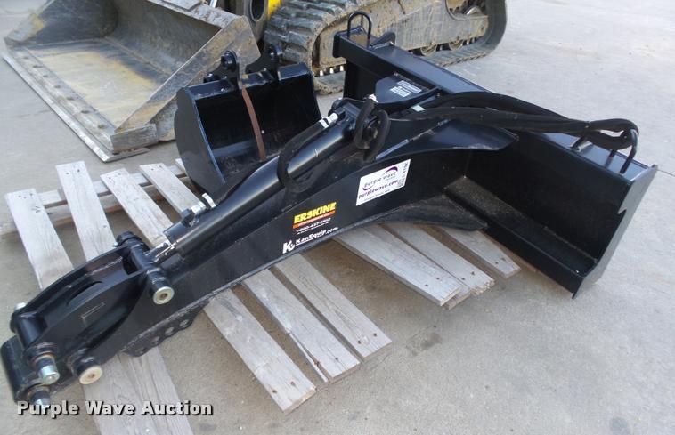 2014 Erskine skid steer backhoe attachment