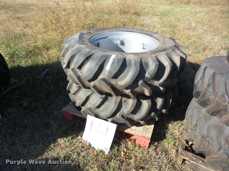 (2) Goodyear 14.9-28 ag tires and wheels