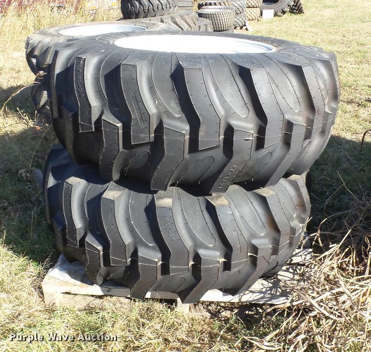 (2) Titan 17.5L-24 tires and wheels