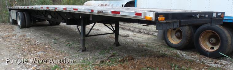 2000 Transcraft TL1000W2 flatbed trailer