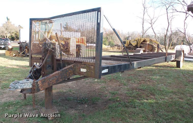 Shop built hay trailer