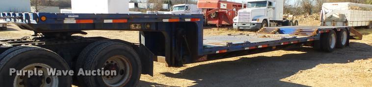 1997 Clark CPDFRT-97 double drop deck trailer