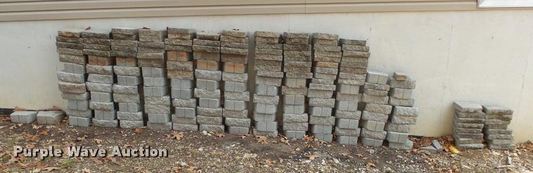 (102) concrete retaining wall blocks