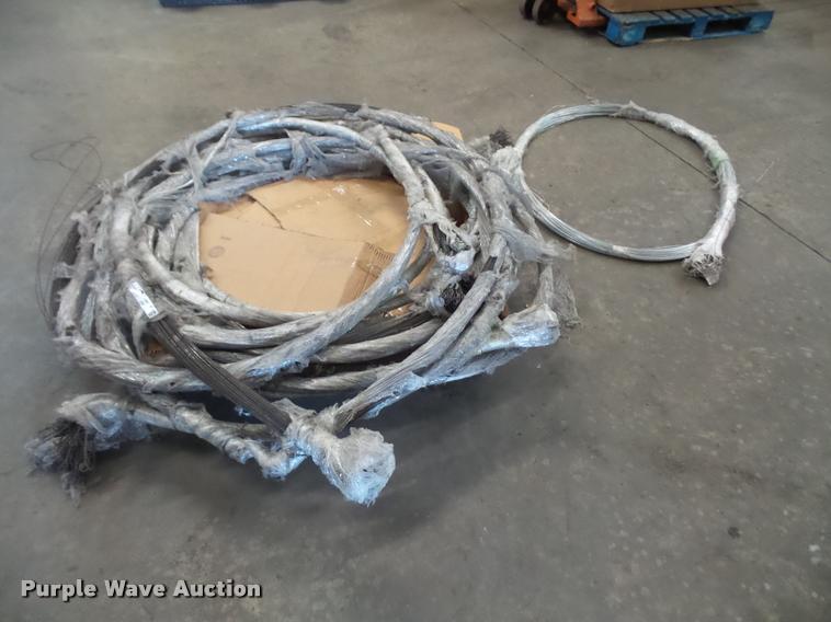 (10) cardboard baler wire tie bundles