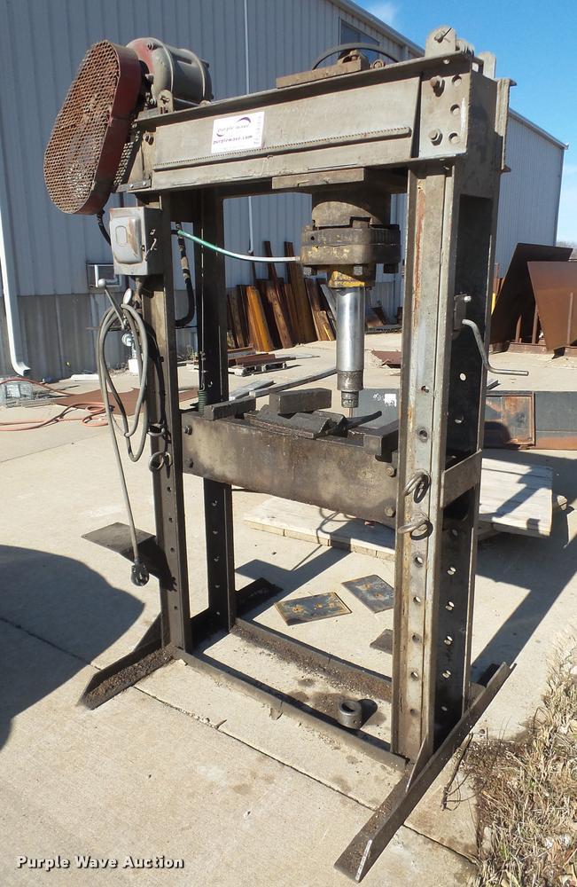 Shop built hydraulic press