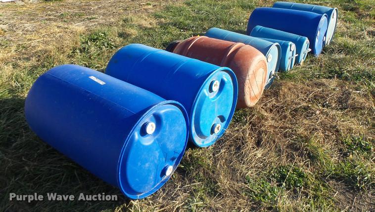 (8) poly barrels