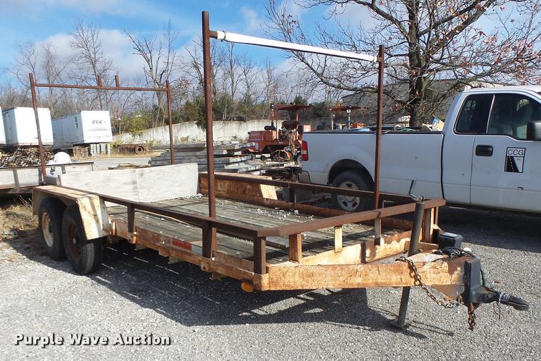 1996 shop built utility trailer