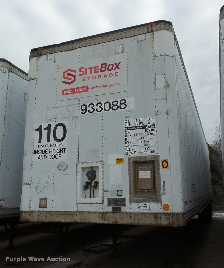 1989 Dorsey SIDT-86-LSP dry van trailer