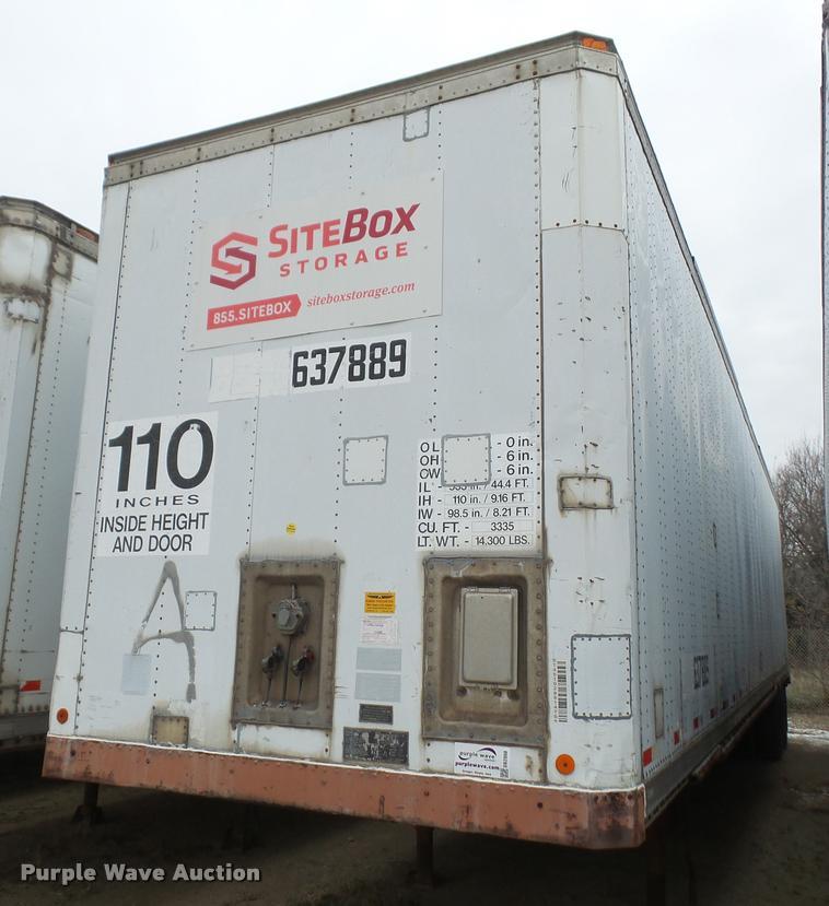 1989 Dorsey SIDT-86-LS-PB dry van trailer