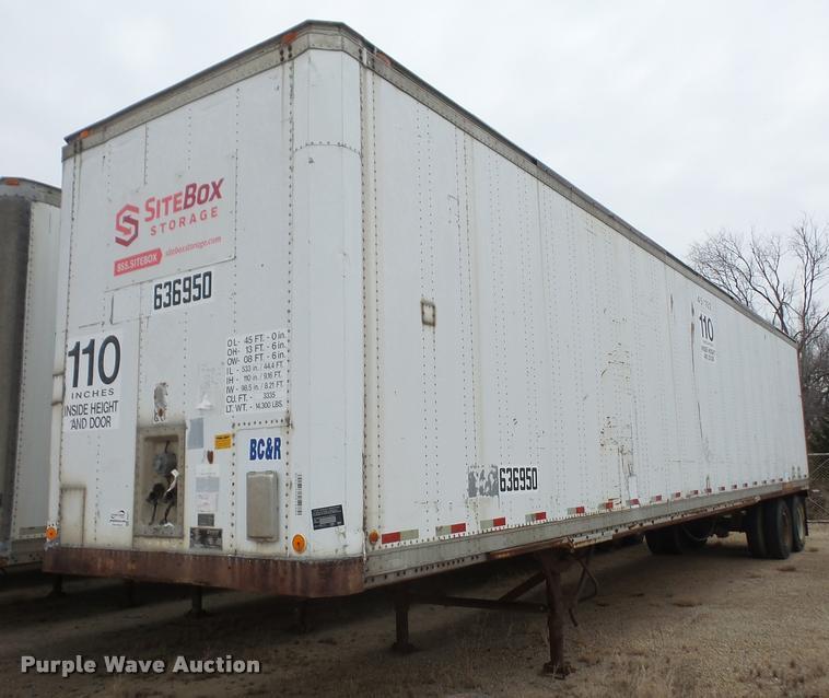 1989 Dorsey SIDT-86-LSPB dry van trailer