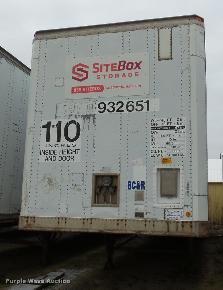 1989 Stoughton CSVW-Z-455T-S-C dry van trailer