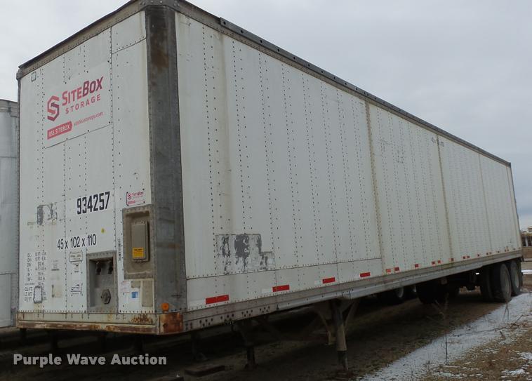 1995 Monan MS3-32-ST-45W dry van trailer