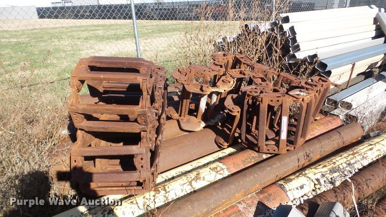 (2) Grouser steel skid steer tracks