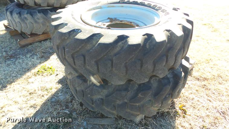 (2) Firestone wheels and tires