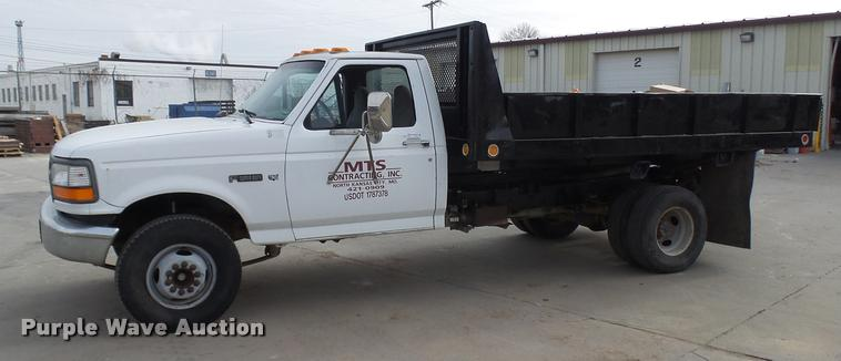 1996 Ford F450 Super Duty dump flatbed truck