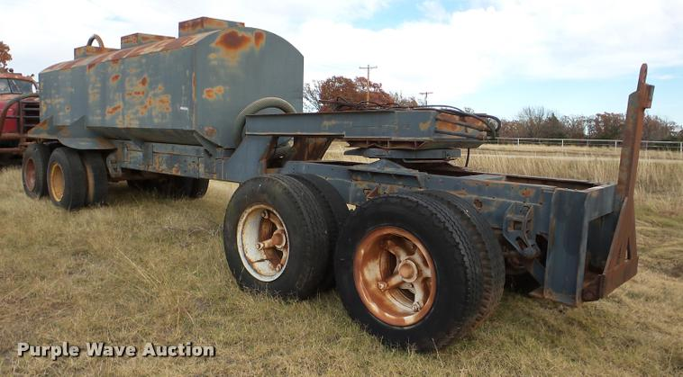 Shop built tank trailer