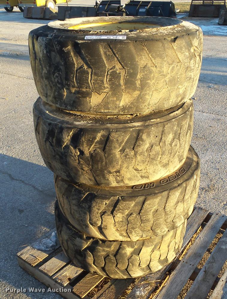 (4) 12-16.5 NHS tires and wheels